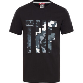 The North Face TNF SS Tee Men tnf black psychedlic print